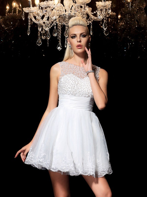 Robe de cocktail courte princesse