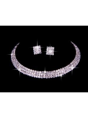 Great tchèque Faux diamants Mariage Colliers boucles d'oreilles