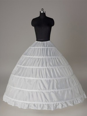 Nylon Robe de bal 1 Tier Longueur ras du sol Caleçon Style/Jupon de mariage
