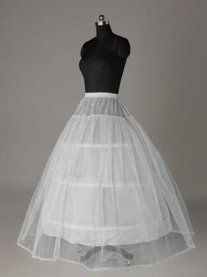 Tulle Netting Robe de bal 2 Tier Longueur ras du sol Caleçon Style/Jupon de mariage