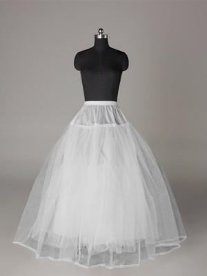 Tulle Netting Robe de bal 3 Tier Longueur ras du sol Caleçon Style/Jupon de mariage