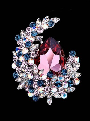 Magnifique Alliage With Cristal Ladies' Broche