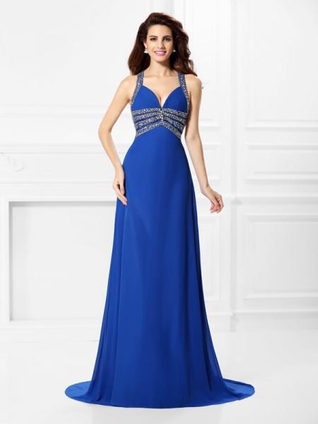 82d8130ba97768 Bleu roi Sexy robes de soirée - Hebeos