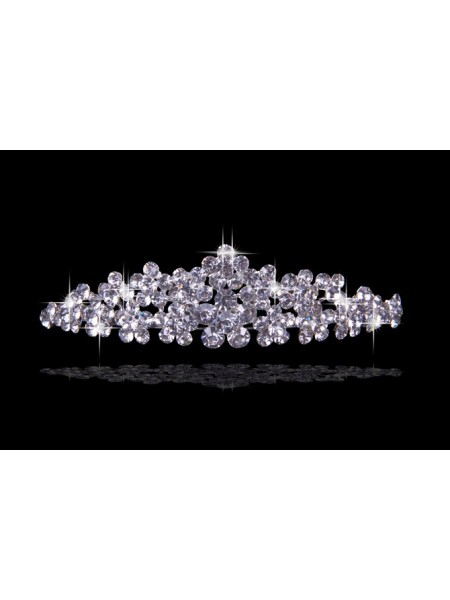 Beau tchèque Faux diamants Fleurs Coiffes de mariage