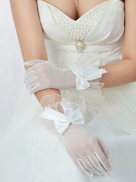 Best Tulle Bowknot Mariage Des gants