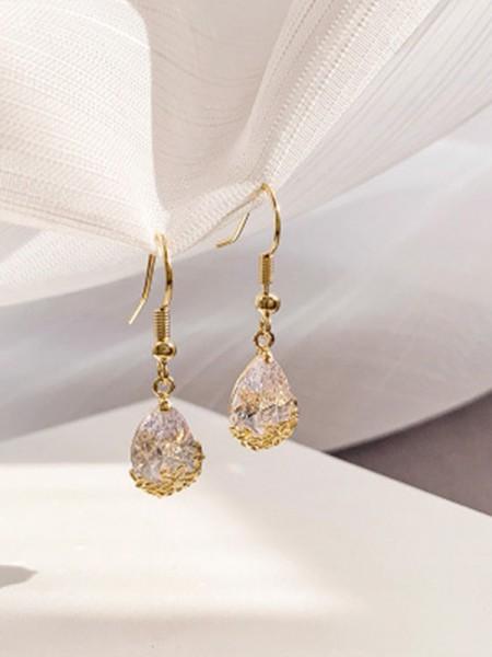 Ladies's Joli Faux diamants With Water Drop Des boucles d'oreilles