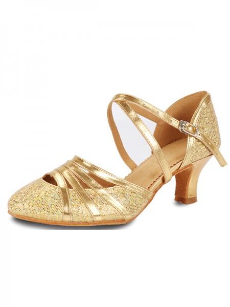 Aux Femmes Sparkling Glitter Cone Heel Closed Toe Des sandales