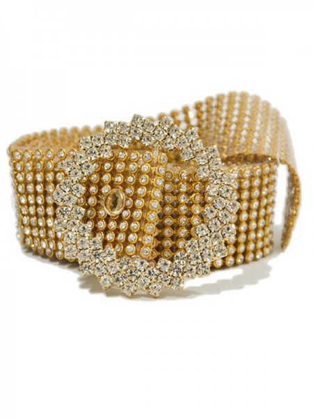 Magnifique Alliage Ceintures With Faux diamantss
