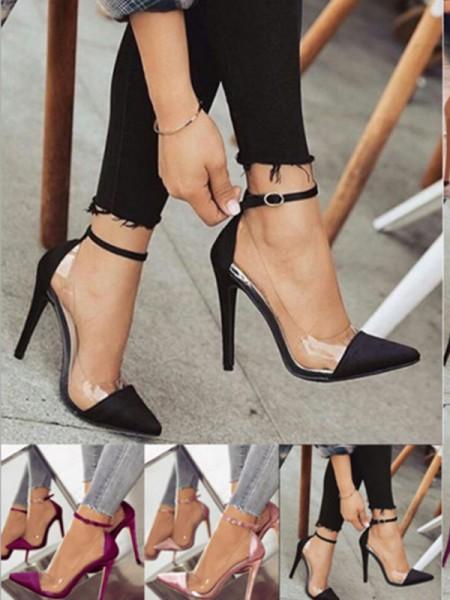Aux Femmes PU Stiletto Heel Closed Toe Talons hauts