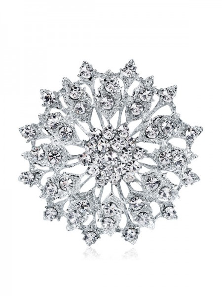 Tendance Alliage With Faux diamants Ladies' Broche
