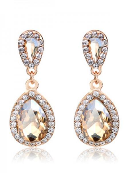 Vintage Alliage With Faux diamants Aux Femmes Des boucles d'oreilles