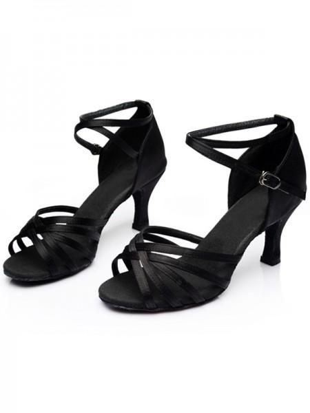 Women's Leatherette Kitten Heel Peep Toe Sandals
