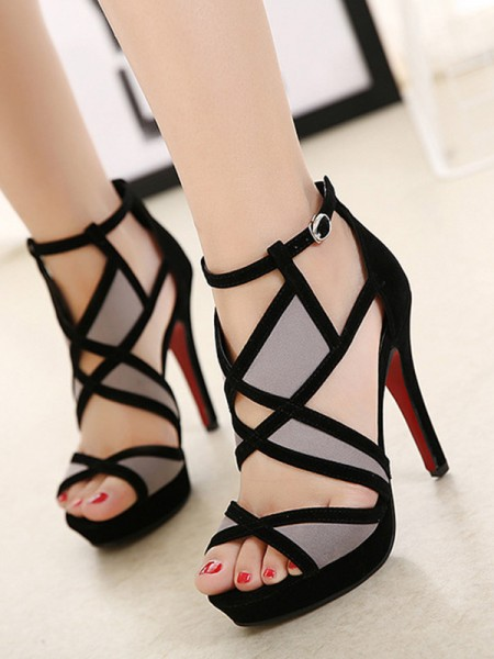 Women's Hollow-out Stiletto Heel Peep Toe Sandals