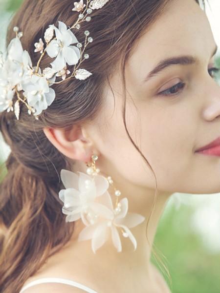 Mode Hot Sale Alloy With Flower boucles d'oreilles For Ladies