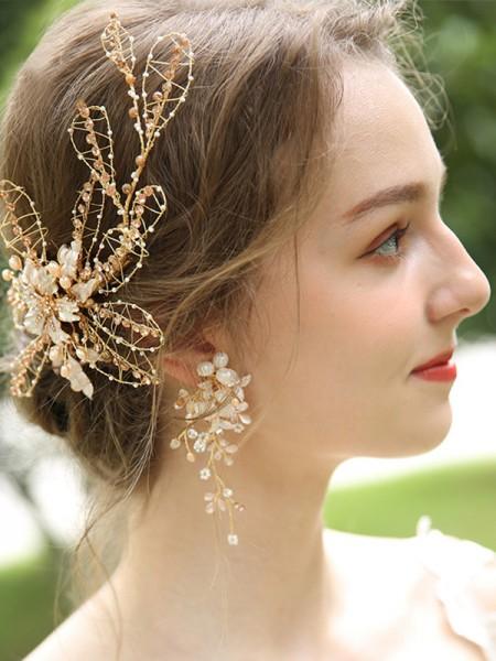 Splendid Alloy With Flower Women's boucles d'oreilles