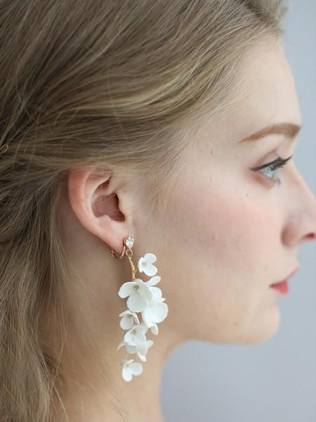 Sweet Alloy With Flower Women's boucles d'oreilles