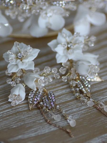 Great Alloy With Faux diamants Women's boucles d'oreilles