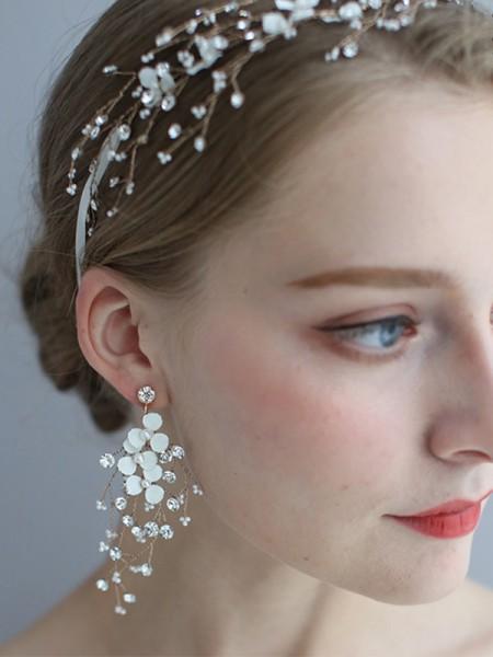 Magnifique Alloy With Faux diamants boucles d'oreilles For Women