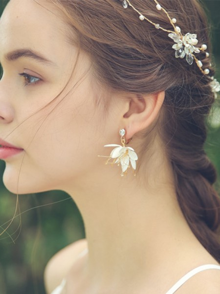 Glamorous Alloy With Flower Hot Sale boucles d'oreilles For Ladies