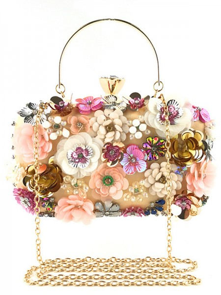 Mode Satiné Evening/Casual Sacs With Flowers