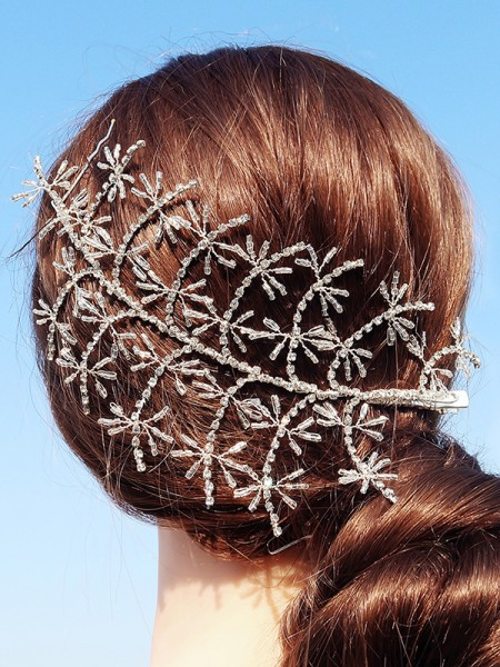 Luxueux Alliage Avec Faux diamants Hairpins