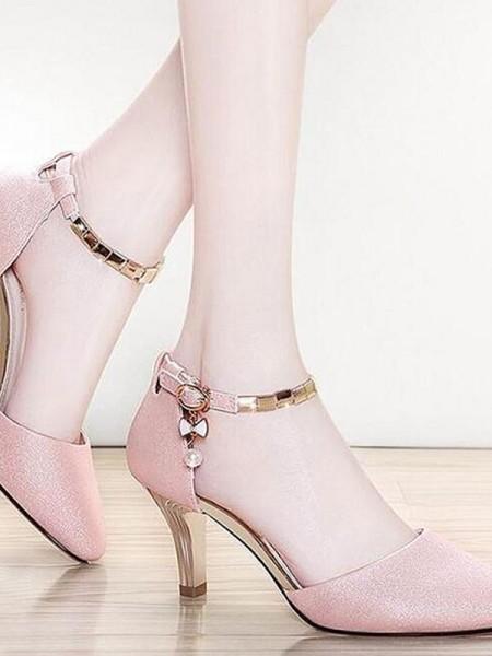 Aux Femmes Leatherette Stiletto Heel Closed Toe Des sandales