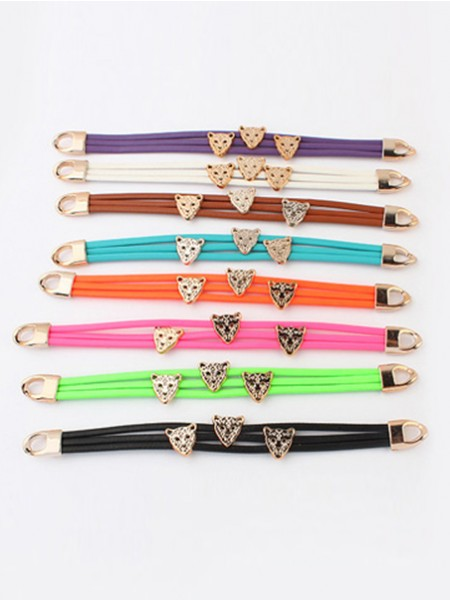 Occident Candy colors Summer Tous les matches Leopard head Grosses soldes Bracelets