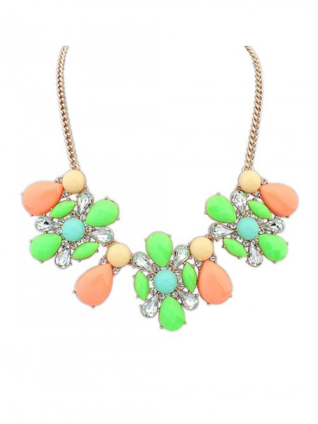 Occident Street shooting Collision color Exquis Simple Grosses soldes Collier