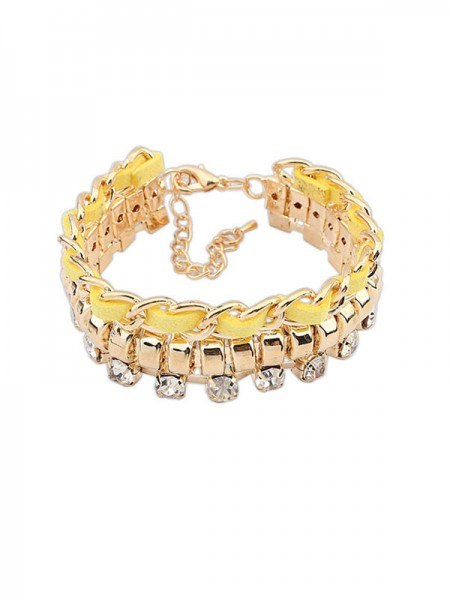 Occident Modeable New Flash Drilling Woven Grosses soldes Bracelets