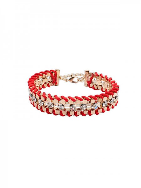 Occident Ethnic Customs Woven Rhinestone Grosses soldes Bracelets
