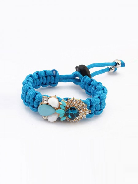 Occident Modeable Woven Gemstone Grosses soldes Bracelets