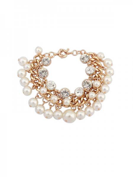 Occident Modeable Pearls Flash Drilling Exquis Grosses soldes Bracelets