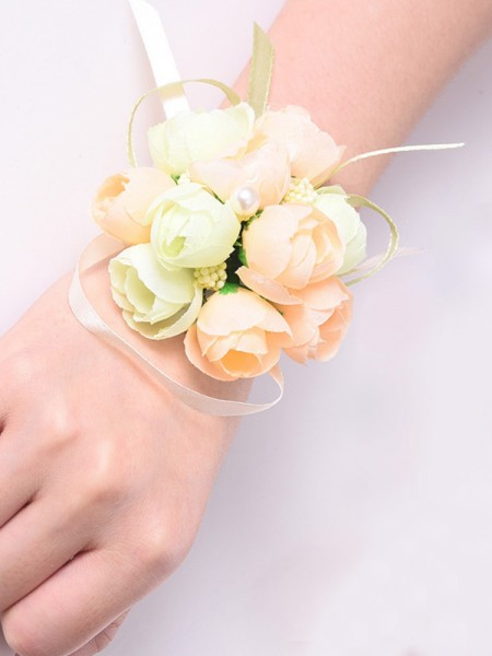 Mode Silk Flower Poignet Corsage