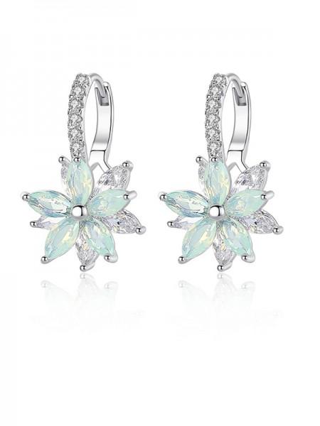 Mode Cristal With Flowers Ladies's Des boucles d'oreilles