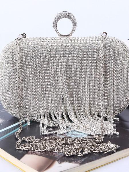 Luxueux Faux diamants Soirée Sacs à main