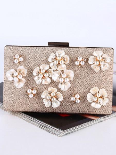 Graceful Pearl Soirée Sacs à main With Flowers