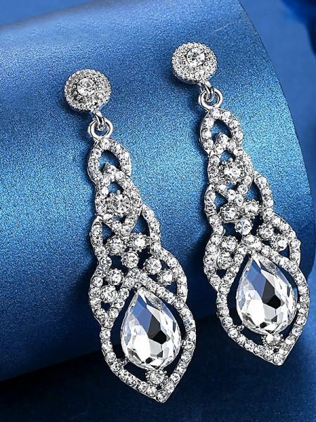 Ladies's Luxueux Cristal Hot Sale Des boucles d'oreilles