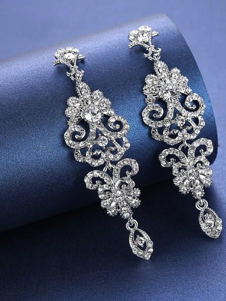 Charming Faux diamants Des boucles d'oreilles For Wedding De mariée