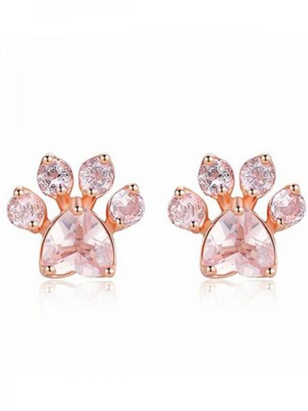 Brilliant Alliage With Zircon Des boucles d'oreilles For Women