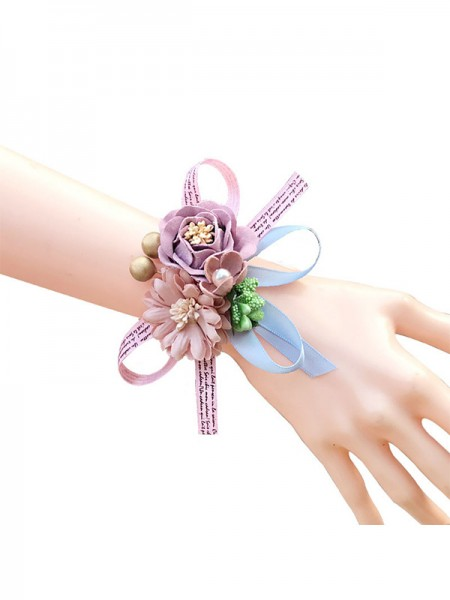 Charmant Artificial Flower Poignet Corsage