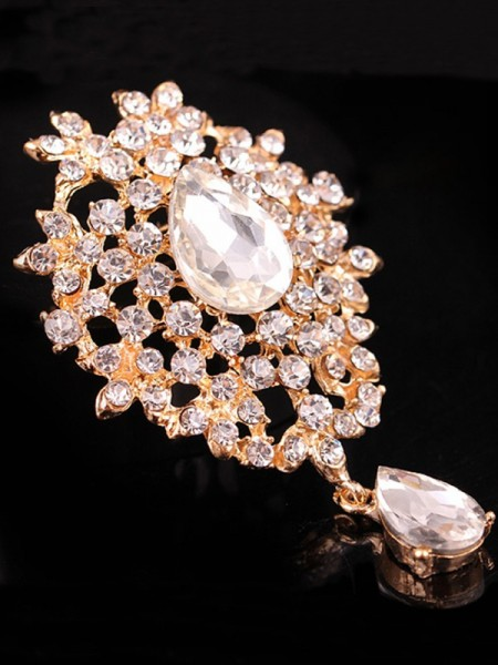 Ladies' Charmant Alliage With Faux diamants Broche