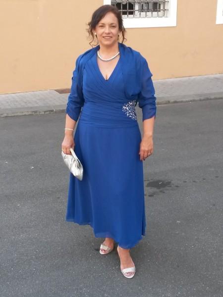 Trapèze/Princesse Col en V Sans Manches Perles Longueur cheville Satiné Mousseline Robes des mères des mariés