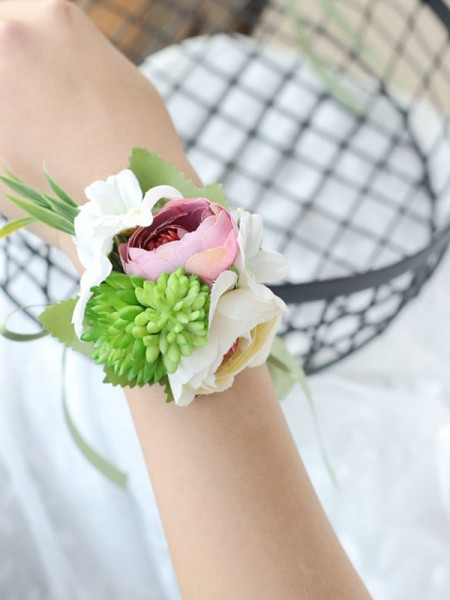 Graceful Cloth Hand-tied Wrist Corsage