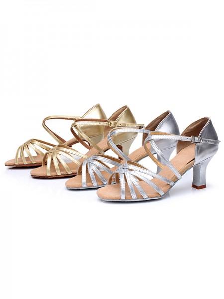Aux Femmes Satiné Cone Heel Buckle Peep Toe Des sandales