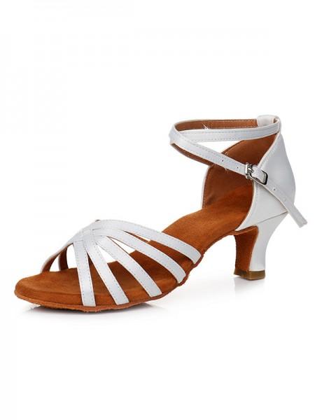 Aux Femmes Satiné Peep Toe Cone Heel Buckle Des sandales