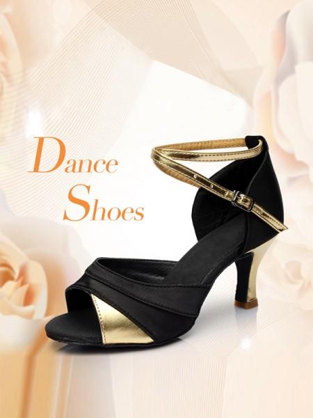 Aux Femmes Stiletto Heel Satiné Buckle Peep Toe Des sandales