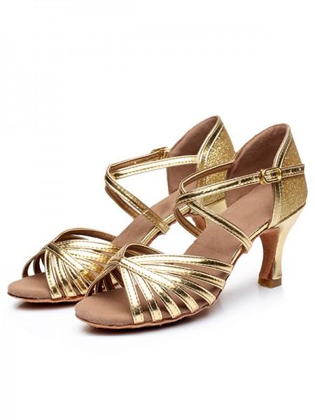Aux Femmes Peep Toe Buckle PU Stiletto Heel Des sandales