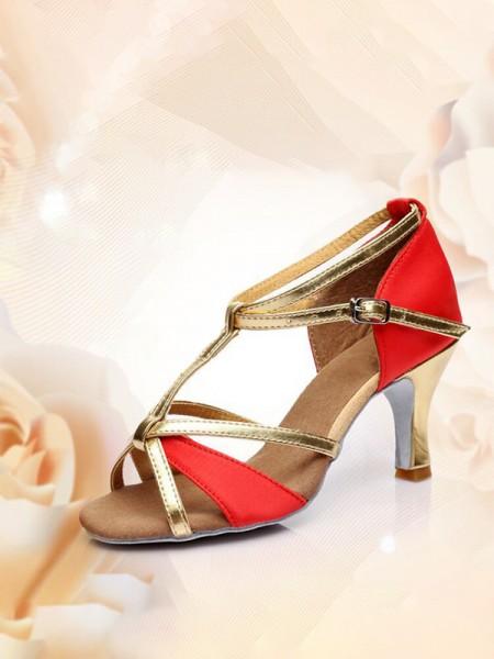Aux Femmes Avec Buckle PU Peep Toe Kitten Heel Des sandales