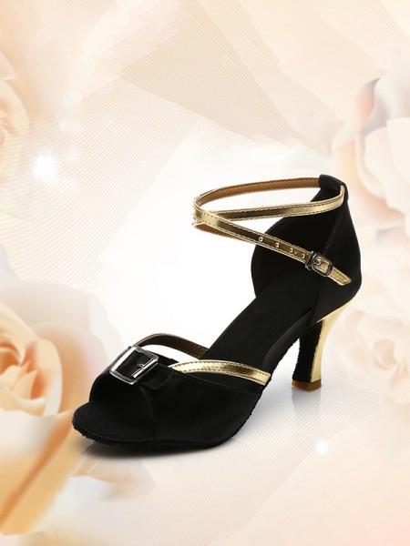 Aux Femmes PU Peep Toe Kitten Heel Avec Buckle Des sandales