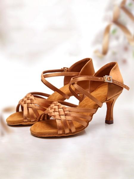 Aux Femmes Avec Buckle Satiné Peep Toe Stiletto Heel Des sandales